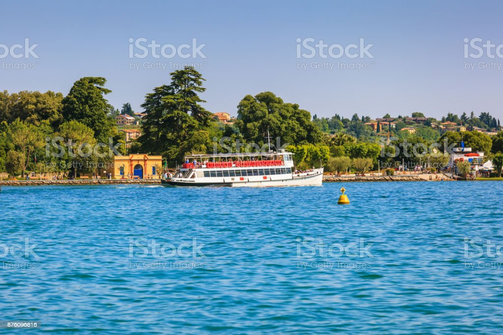Bardolino near lake Grada stock photo