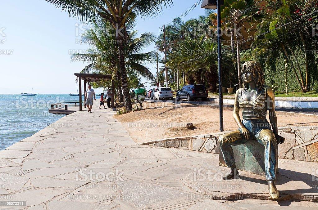 Bardot Sidewalk in Buzios – RJ stock photo