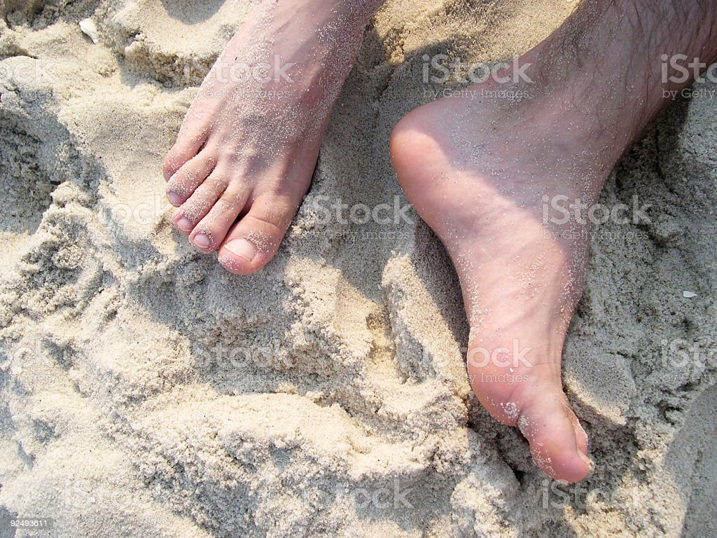 Bare at the Beach royalty-free stock photo