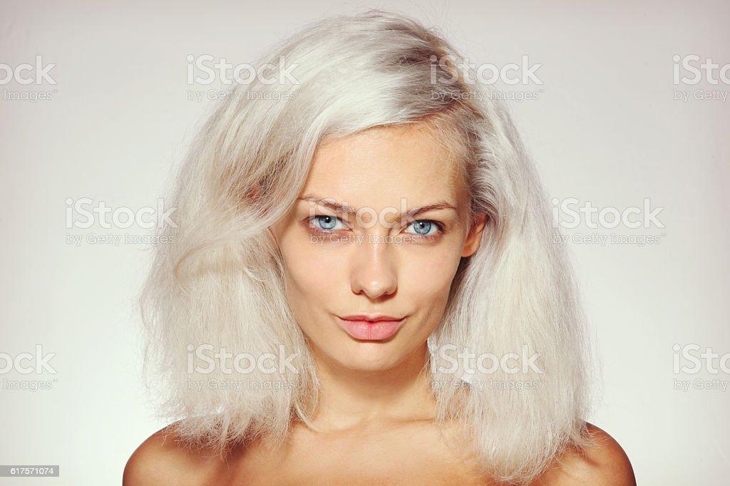 Bare face stock photo