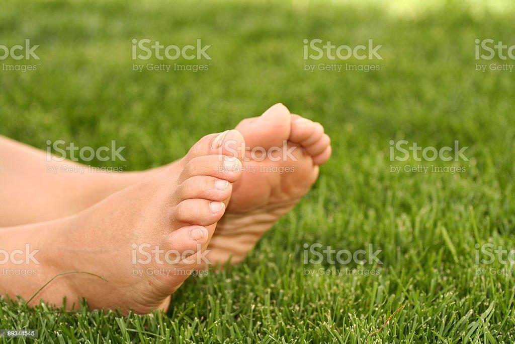 Bare feet royalty-free stock photo