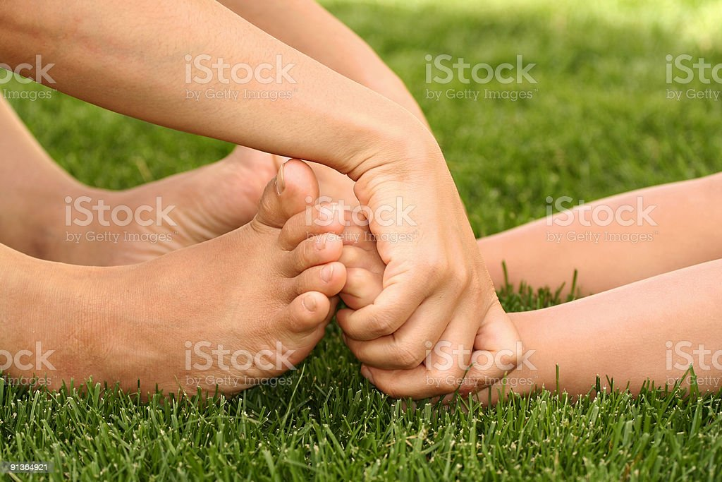 Bare feet stock photo