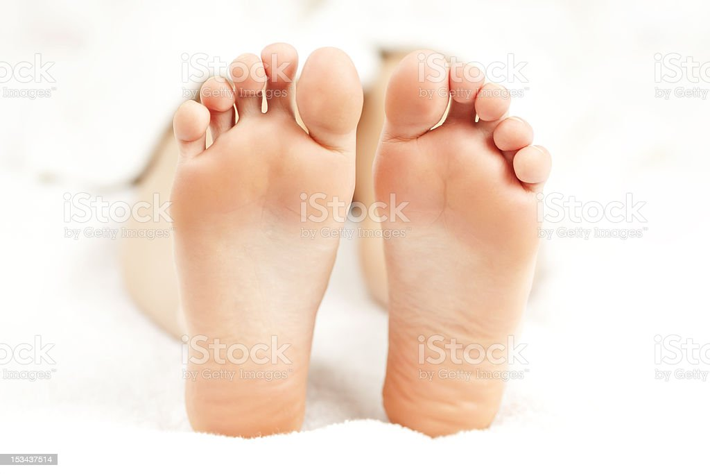 Bare relaxed feet royalty-free stock photo
