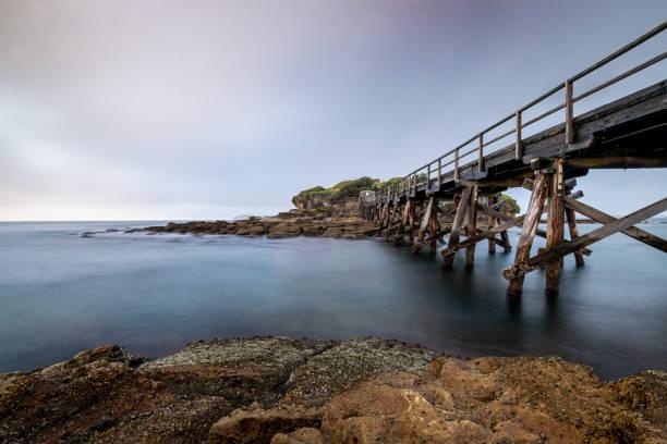 Bare_Island_Fort_bridge 1 stock photo