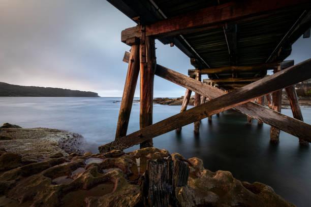 Bare_Island_Fort_bridge 2 stock photo