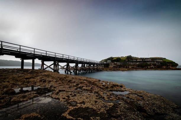 Bare_Island_Fort_bridge 3 stock photo