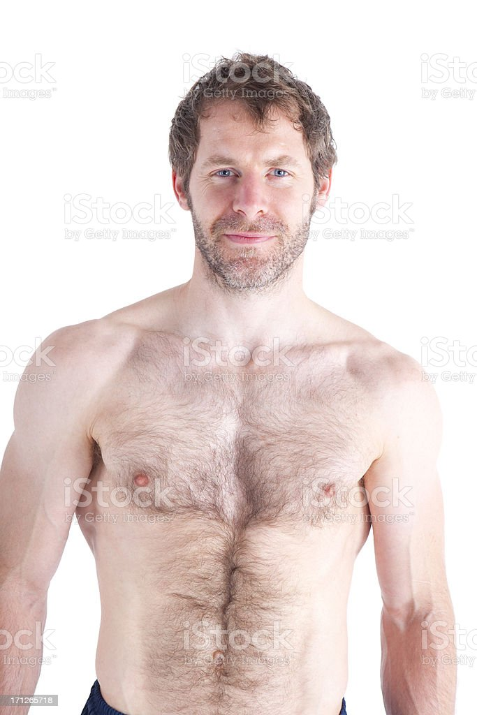 Bare-chested Fit Man royalty-free stock photo