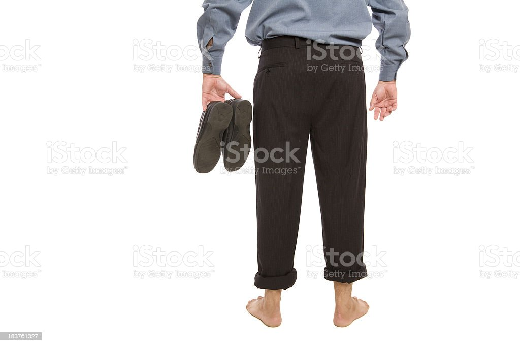 Barefoot Business stock photo