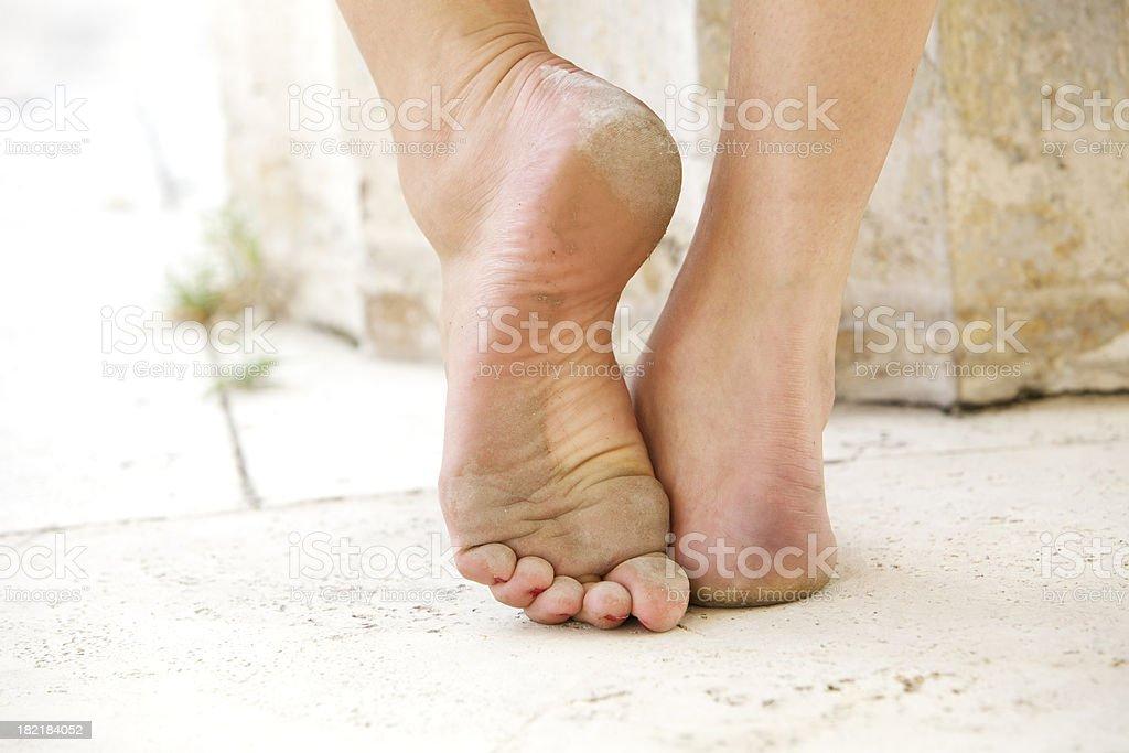 Barefoot dancer stock photo