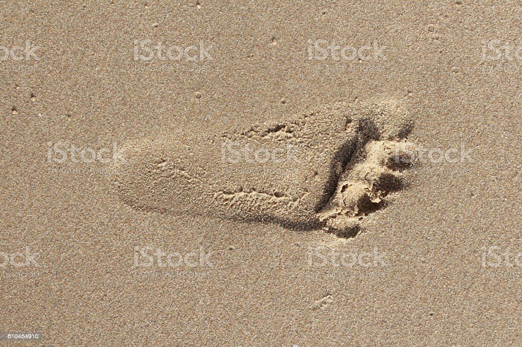 Barefoot on the beach in Thailand stock photo