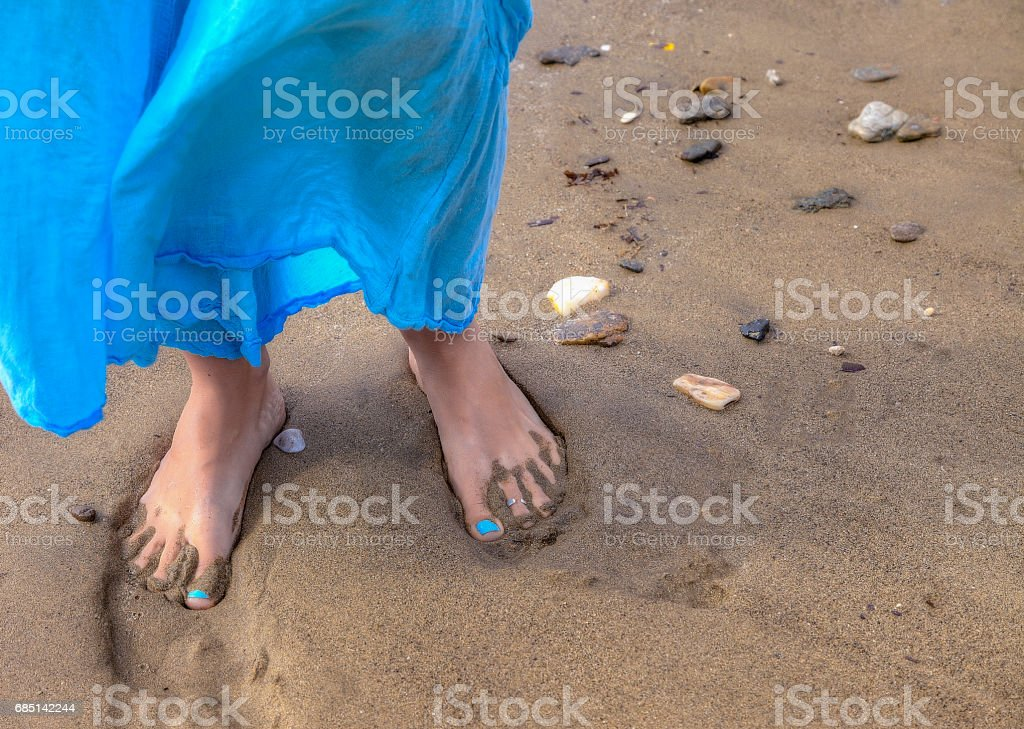 Barefoot on the Beach stock photo