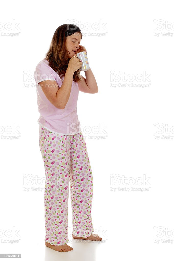 Barely Awake stock photo