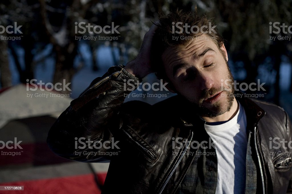 barely awake royalty-free stock photo