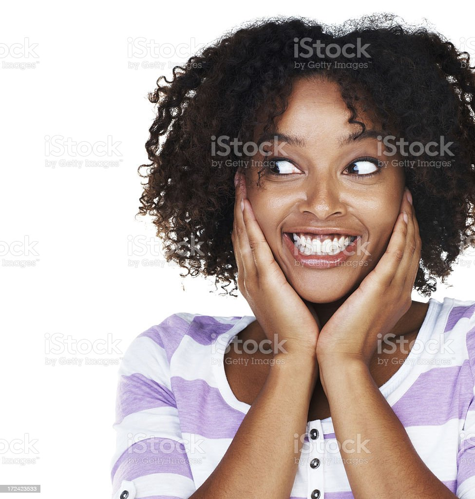 Barely contained enthusiasm stock photo