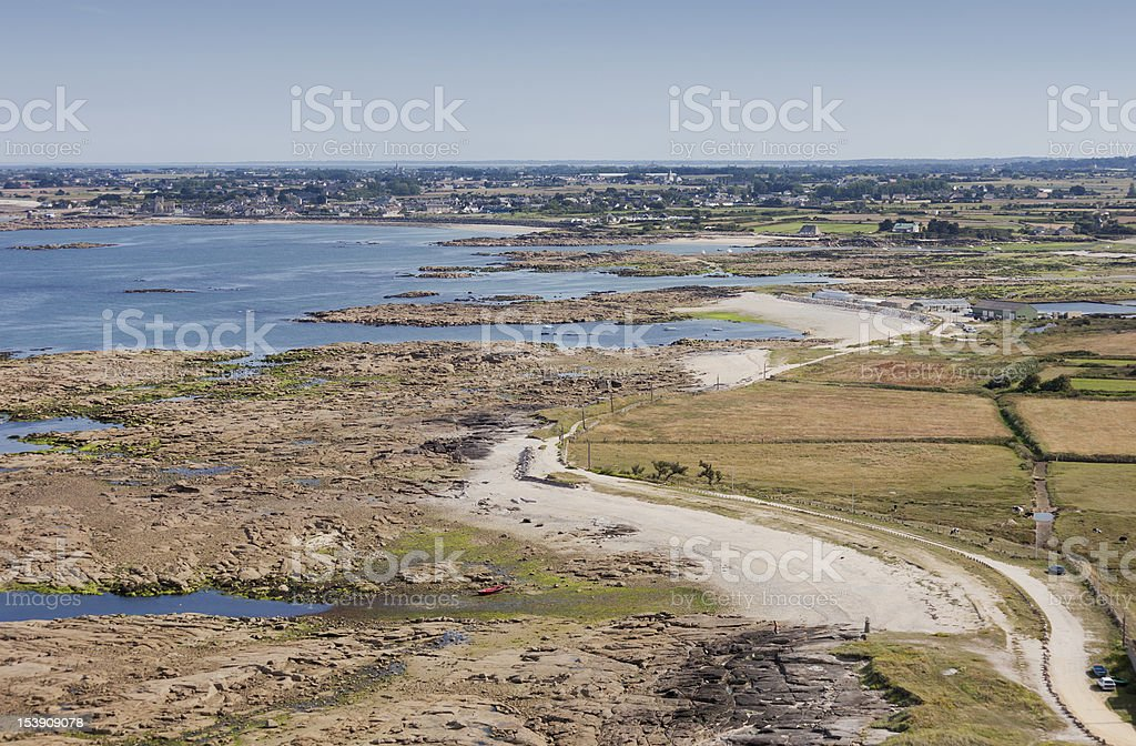 Barfleur in Normandy, France stock photo
