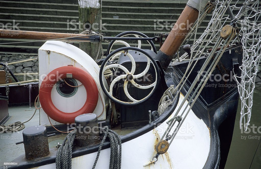 Barge Detail royalty-free stock photo