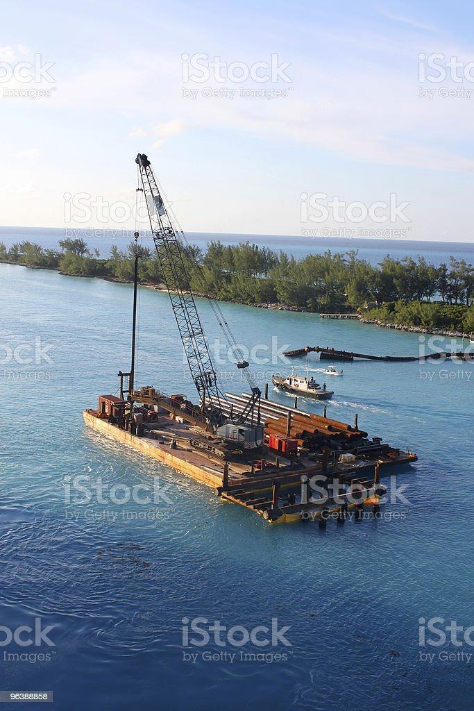 Barge in Nassau - Royalty-free Bahamas Stock Photo