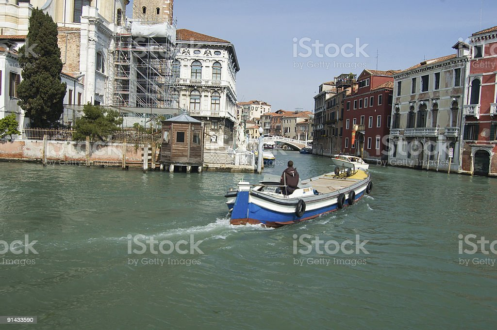 Barge in Venice royalty-free stock photo