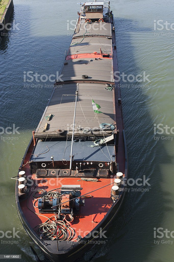 Barge on canal royalty-free stock photo