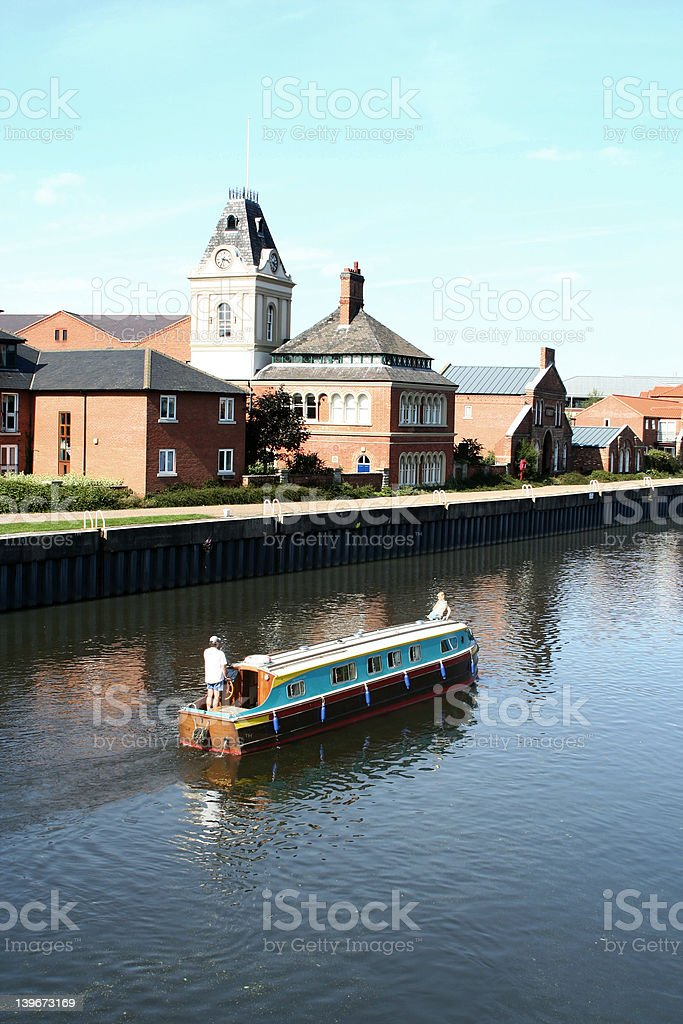 Barge on Trent stock photo
