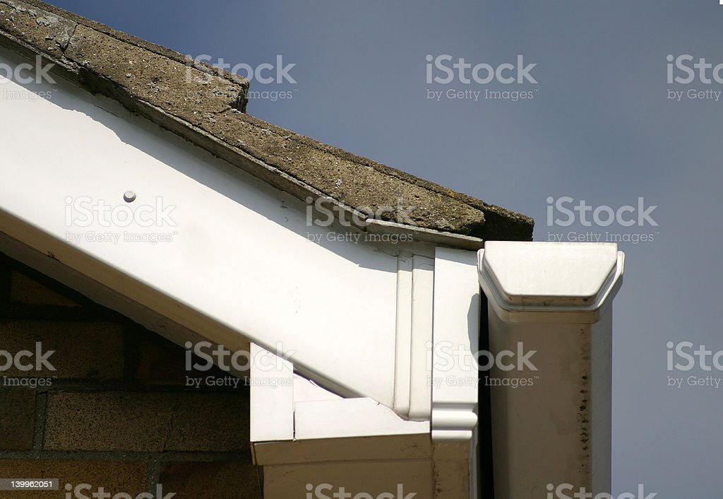 Bargeboard and soffit stock photo