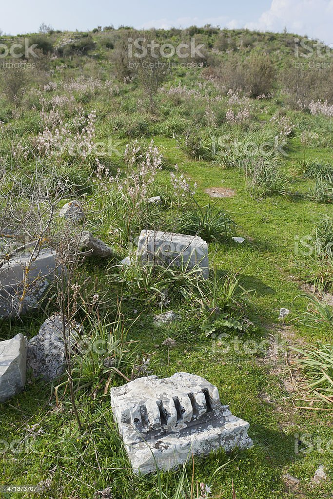Bargylia Ancient City Ruins stock photo