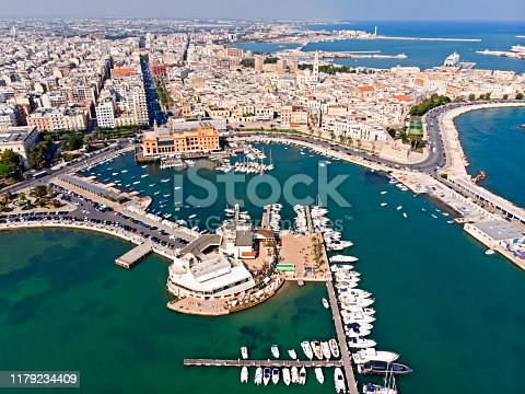 istock Bari aerial view, Italy 1179234409