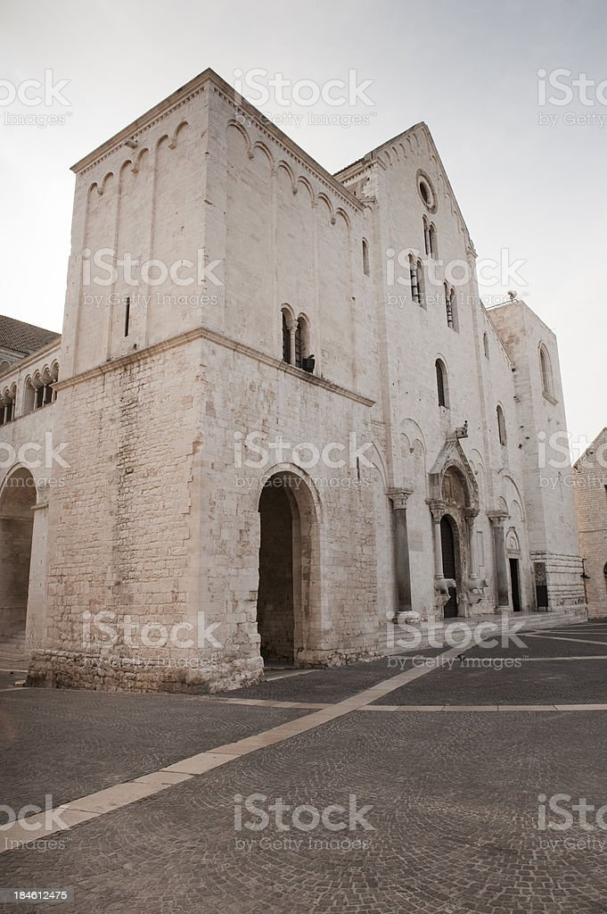 Bari, Basilica of Saint Nicholas. Apulia, Southern Italy. stock photo