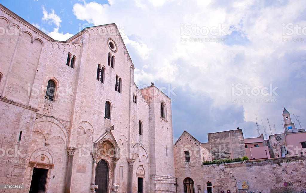 Bari Cathedral, Apulia stock photo