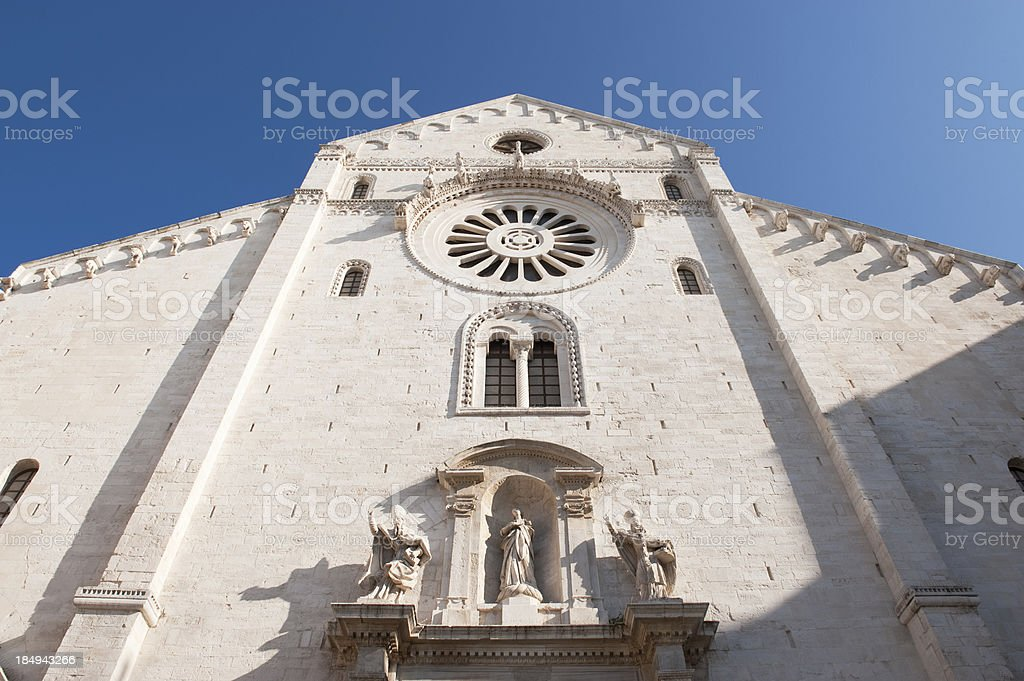 Bari Cathedral, Apulia, Southern Italy. stock photo