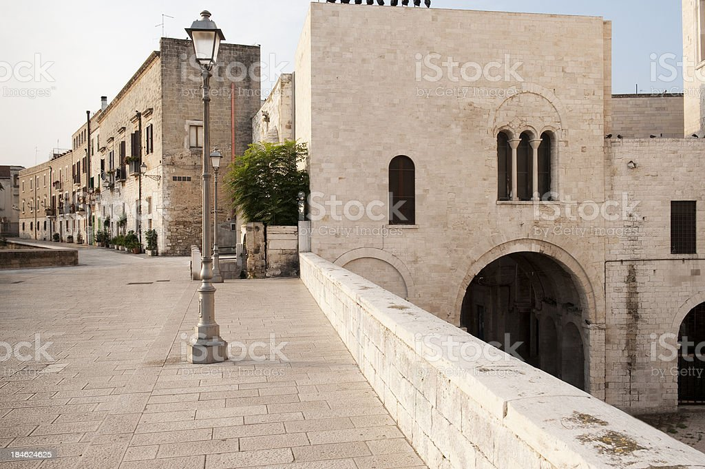 Bari, Houses. The old waterfront wall (La muraglia) - Apulia stock photo