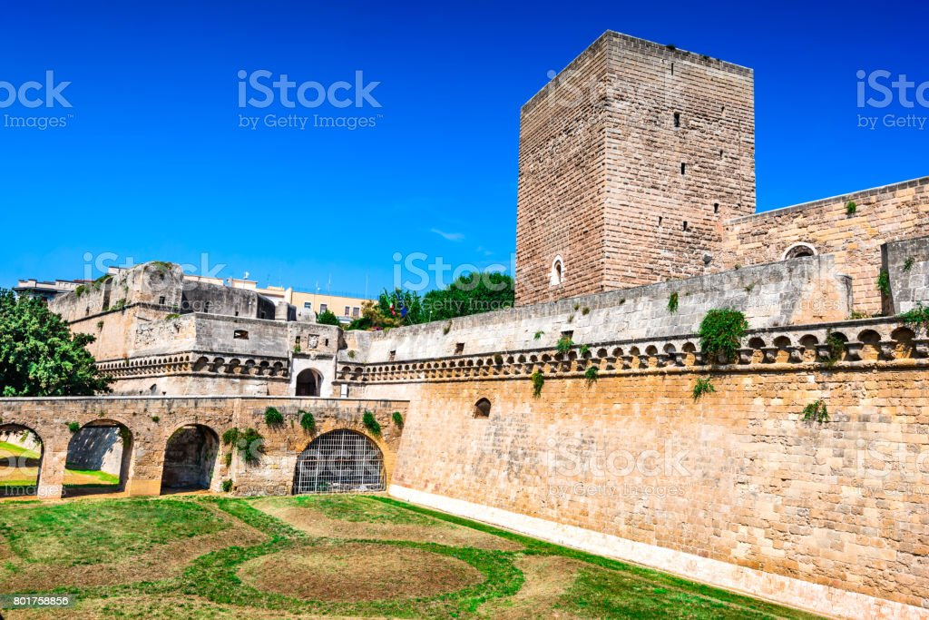 Bari, Puglia, Italy - Castello Svevo stock photo