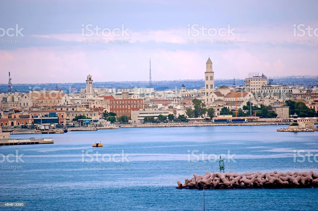Bari skyline stock photo