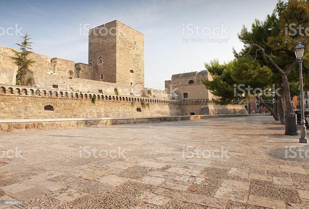 Bari, Castello Svevo (il Castello Svevo)-pugliese, nell'Italia meridionale. - foto stock