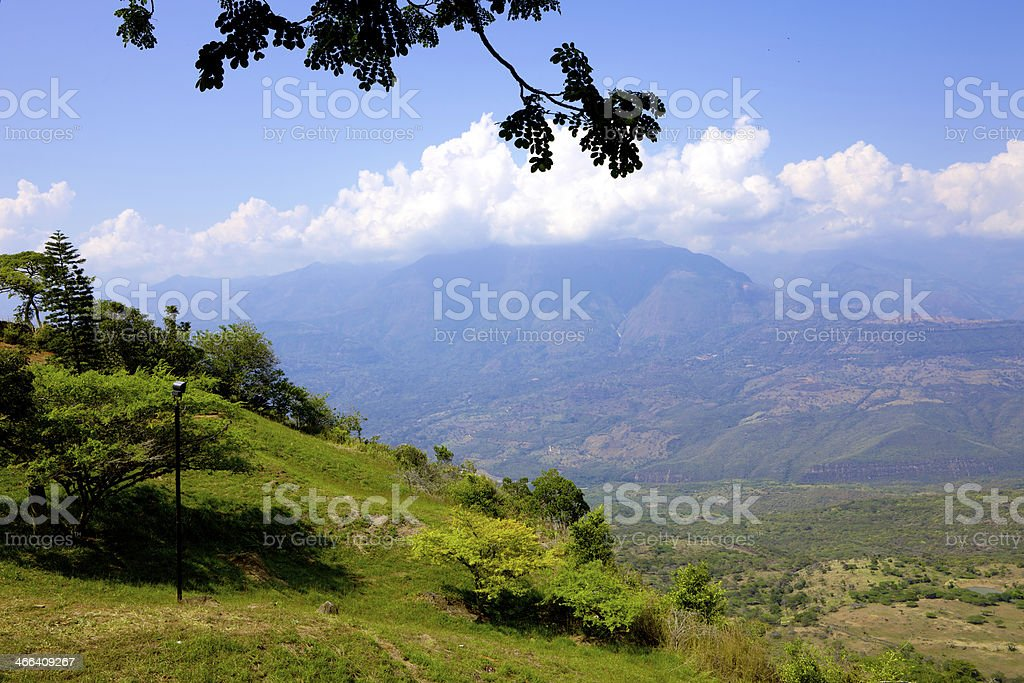 Barichara, Colombia - Picturesque high Andes mountains royalty-free stock photo
