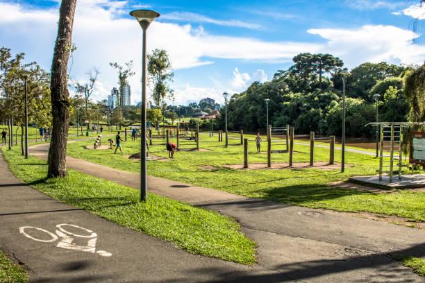 Barigui Park in Curitiba city, Brazil stock photo