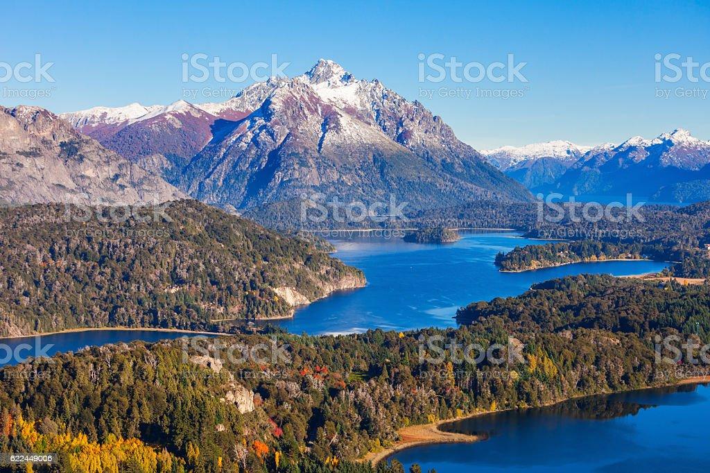 Bariloche landscape in Argentina stock photo