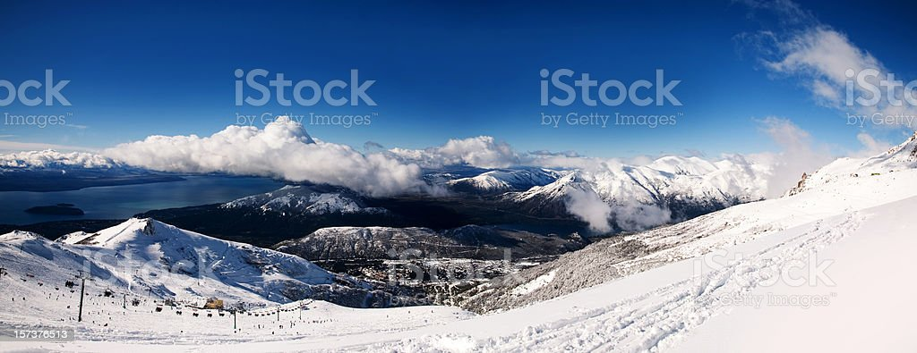Bariloche, Winter Panorama royalty-free stock photo