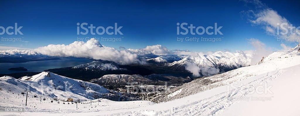 Bariloche, Winter Panorama stock photo