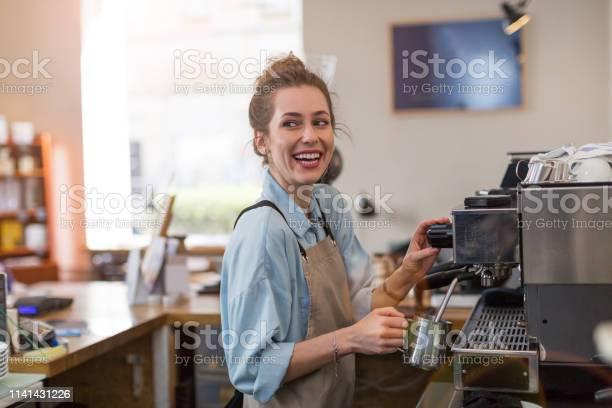 Barista at work picture id1141431226?b=1&k=6&m=1141431226&s=612x612&h=5q3eiwa0pic6km4tyrta0usfub9bqzejpxvp7e9wiii=