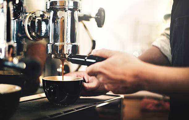 barista cafe making coffee preparation service concept - barista stock photos and pictures
