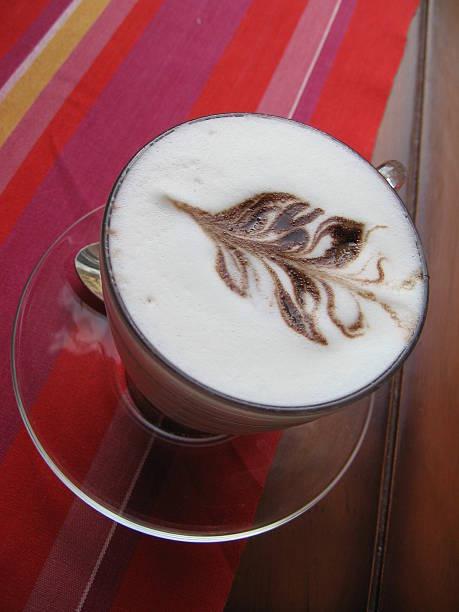 Barista coffee cup stock photo