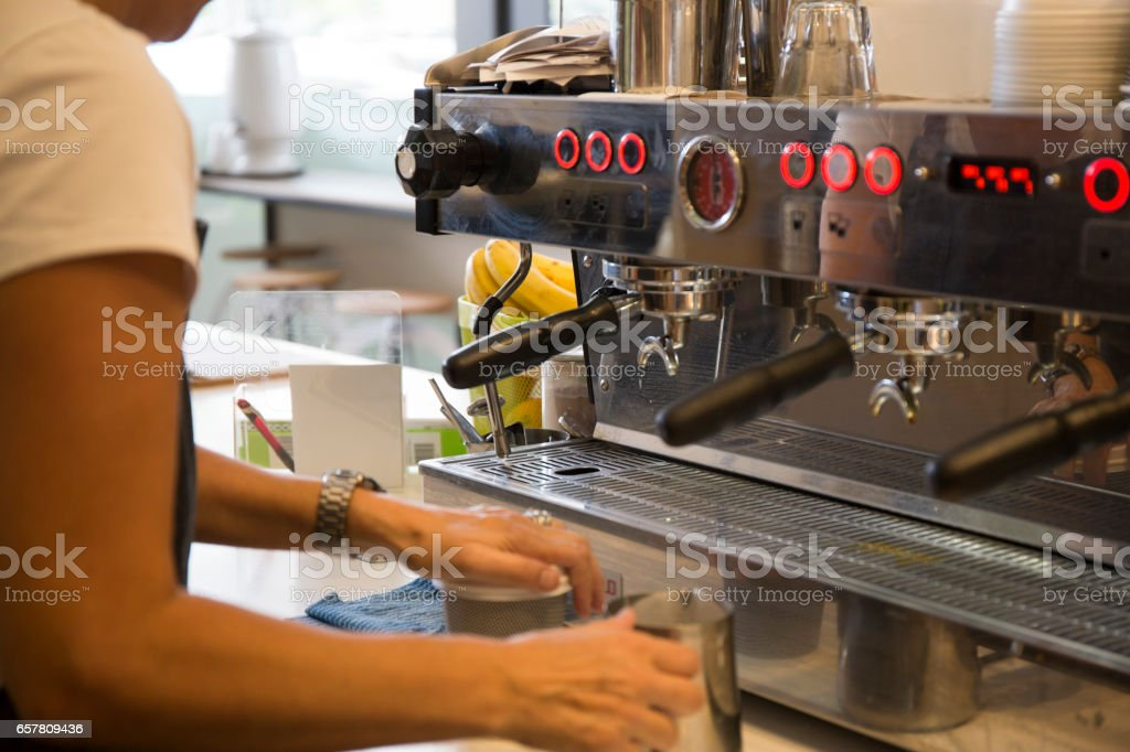 Barista Coffee Maker Machine stock photo