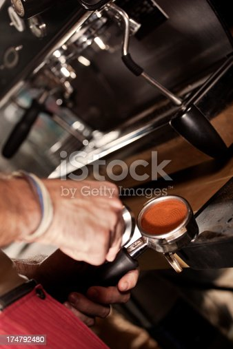 Close up on a  espresso making