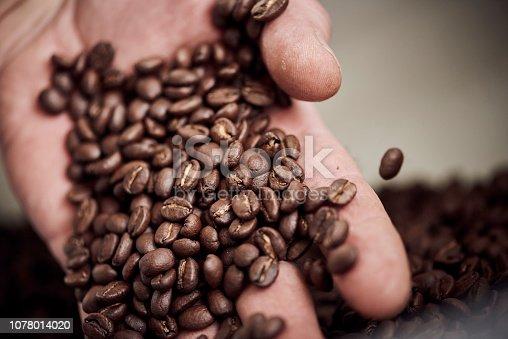 istock Barista roasting coffee beans 1078014020