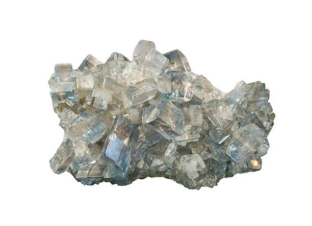 Baryt Kristalle, isoliert auf weiß. Über 8 cm. – Foto