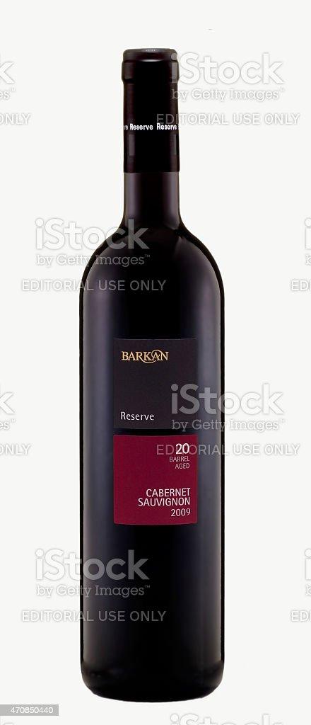 Barkan Reserve Cabernet Sauvignon 2009 stock photo