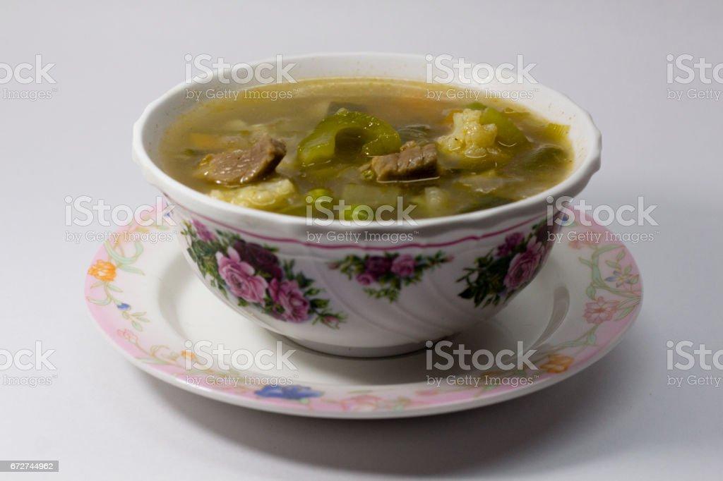Barley Beef Soup stock photo