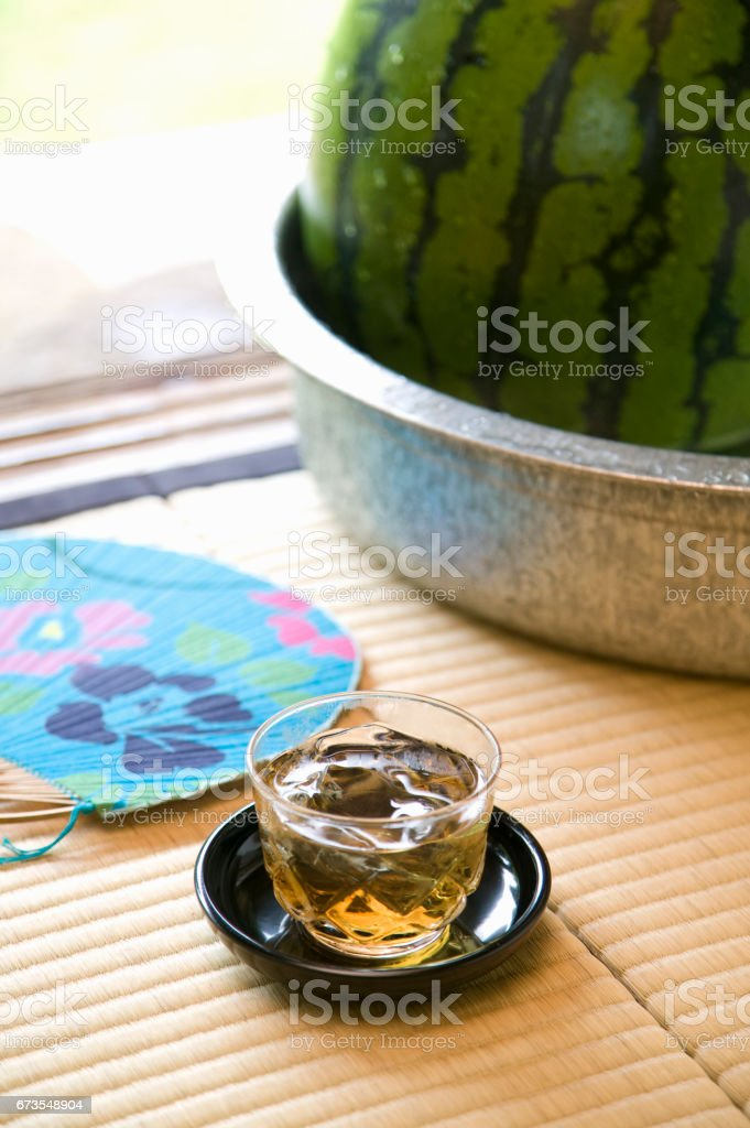 Barley tea royalty-free stock photo