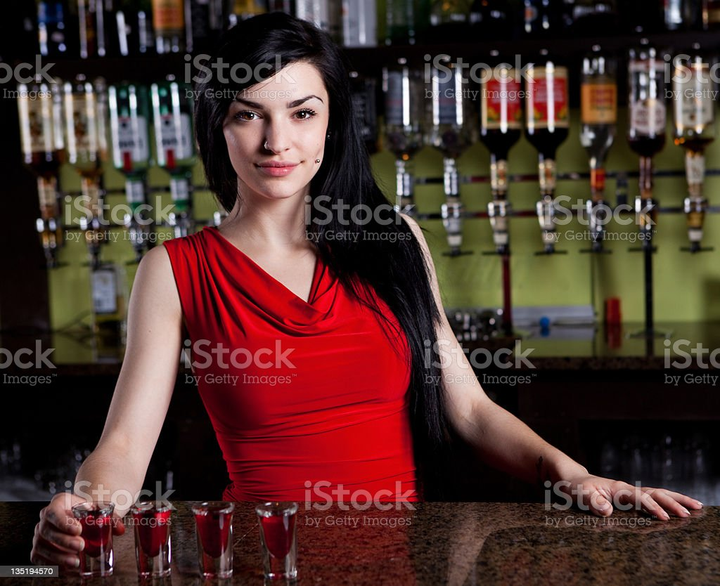Barmaid stock photo